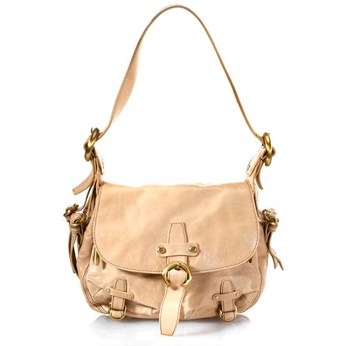 Francesco Biasia Patent Leather Flap Shoulder Handbag