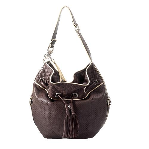 Francesco Biasia Perforated Drawstring Shoulder Handbag