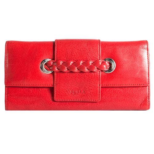 Furla Braided Leather Wallet