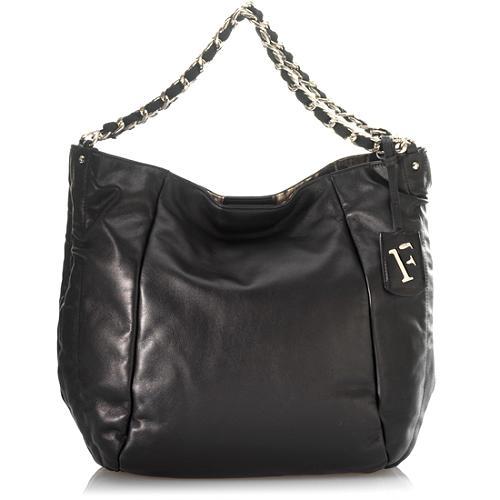 Furla Chain Detail Large Shoulder Handbag