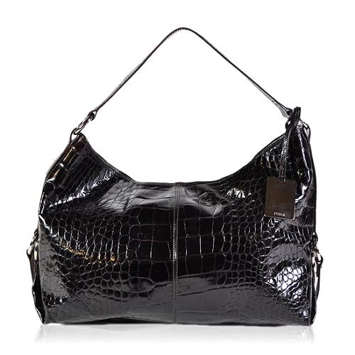 Furla Embossed Hobo Handbag