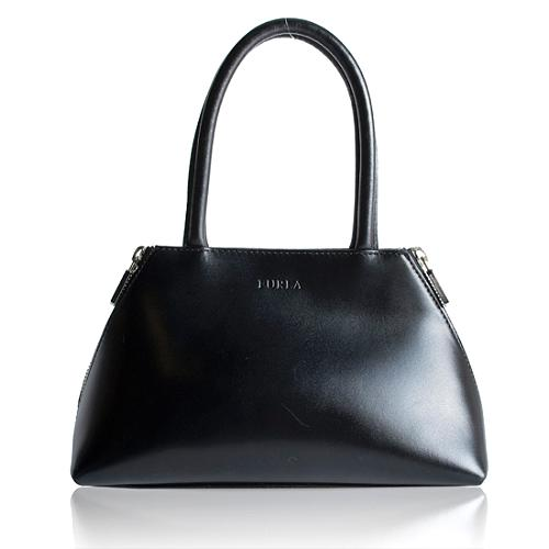 Furla Leather Gusset Small Tote