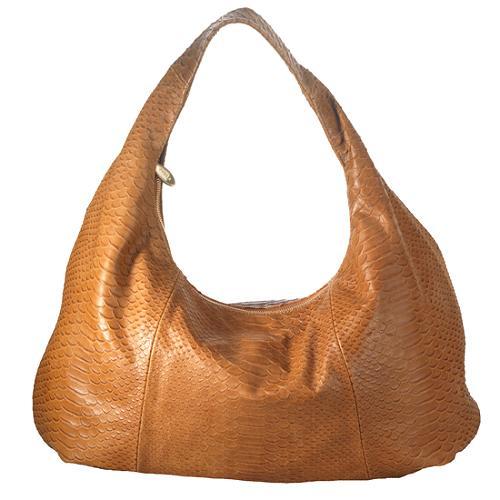 Furla Python Embossed Salome Hobo Handbag