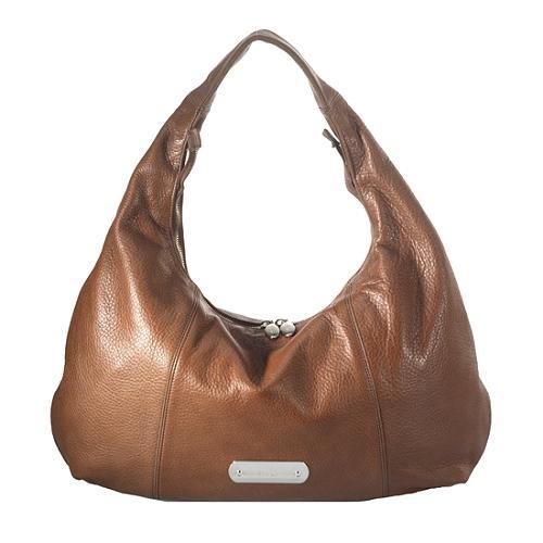 Furla Salome Textured Leather Hobo Handbag