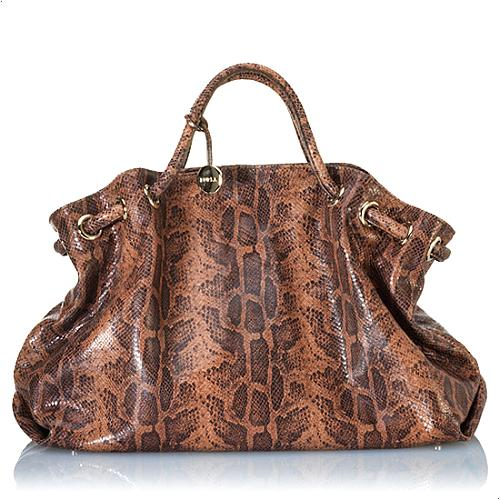 Furla X-Large Stamped Boa Handbag