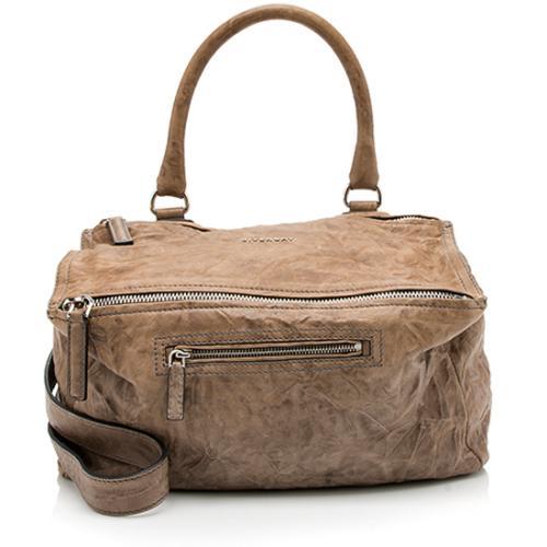 Givenchy Bi-Color Sheepskin Pepe Pandora Medium Shoulder Bag