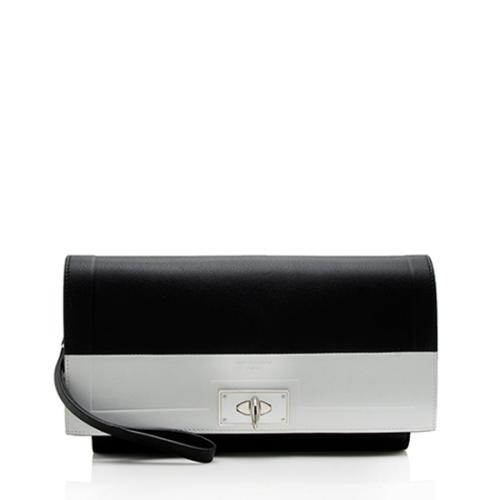 Givenchy Calfskin Shark Tooth Wristlet Clutch