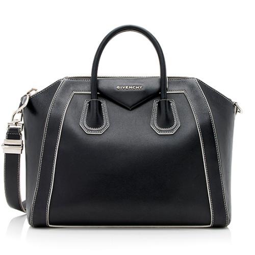Givenchy Goatskin Contrast Antigona Medium Satchel