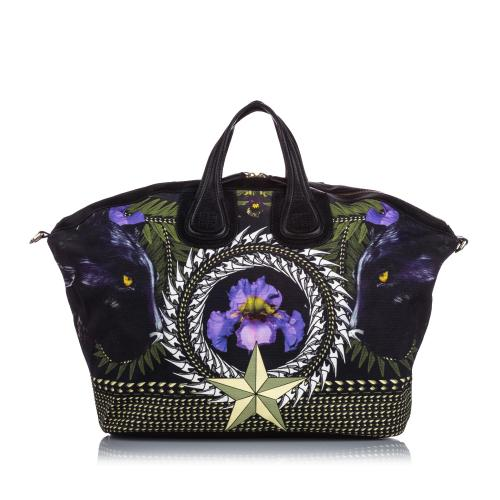 Givenchy Canvas Iris Nightingale Satchel
