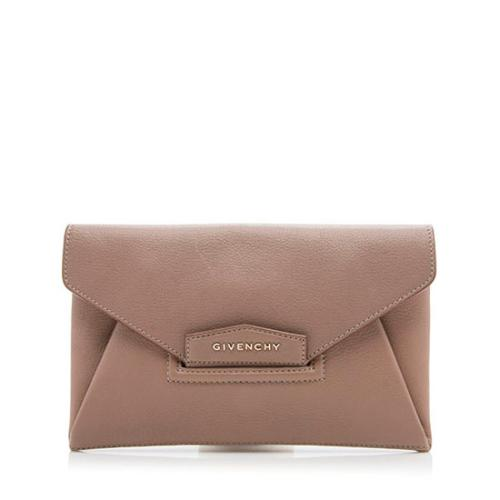 Givenchy Leather Antigona Envelope Small Clutch