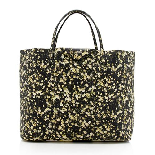 Givenchy Leather Floral Antigona Large Shopping Tote