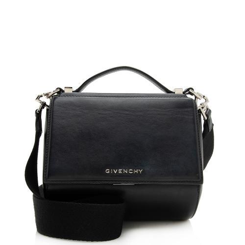 Givenchy Leather Pandora Box Logo Strap Shoulder Bag