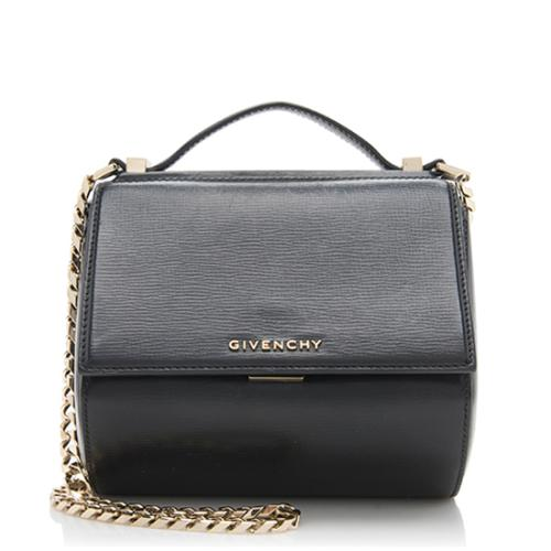 Givenchy Leather Pandora Box Mini Crossbody Bag