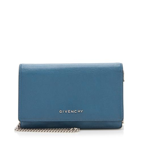 Givenchy Leather Pandora Chain Wallet