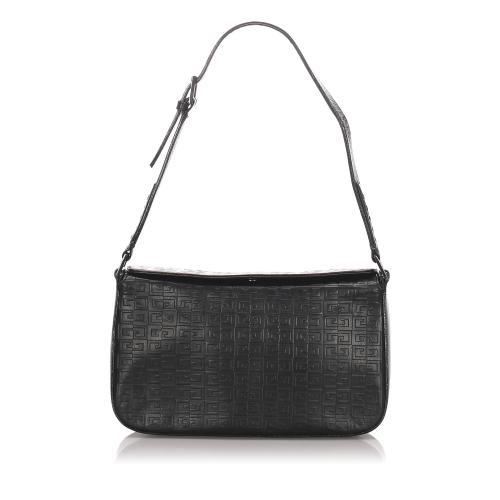 Givenchy Embossed Leather Shoulder Bag