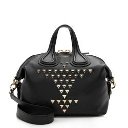 Givenchy Leather Studded Nightingale Small Satchel
