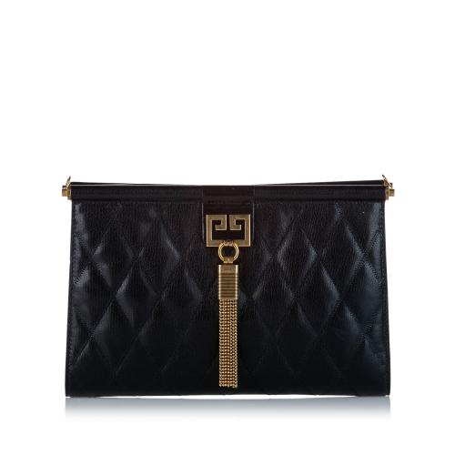 Givenchy Medium Quilted Gem Leather Crossbody Bag