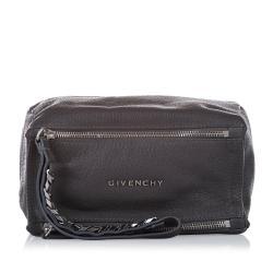 Givenchy Pandora Leather Clutch Bag