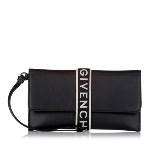 Givenchy Urban Logo Leather Clutch Bag