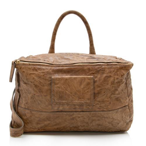 Givenchy Wrinkled Sheepskin Pandora Large Shoulder Bag
