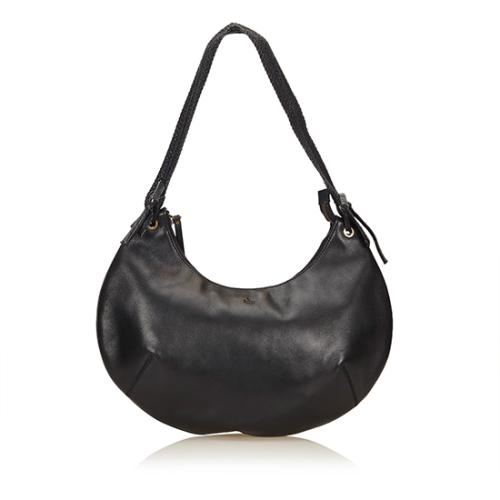 Gucci Leather Crescent Half Moon Hobo