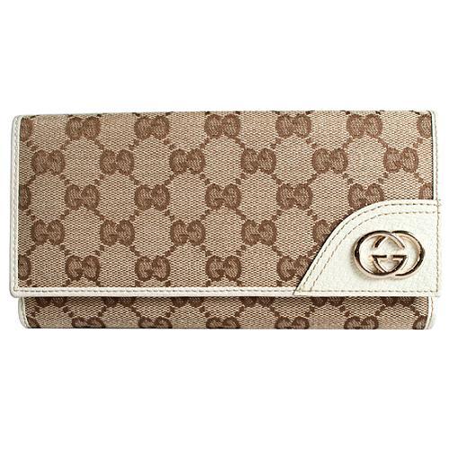FEA HOLD Gucci GG Fabric Britt Long Wallet