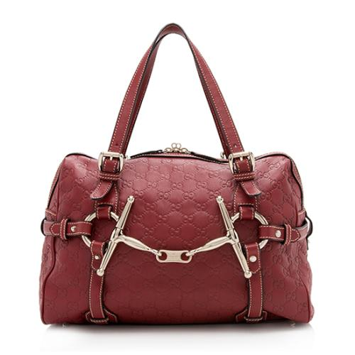Gucci 85th Anniversary Guccissima Leather Boston Satchel