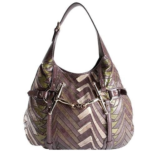 Gucci 85th Anniversary Python Hobo Handbag