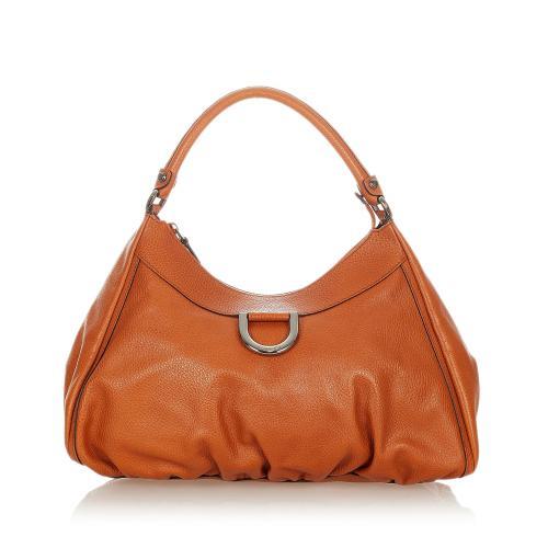 Gucci Abbey D-Ring Leather Shoulder Bag