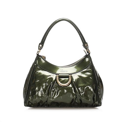 Gucci Abbey D-Ring Patent Leather Shoulder Bag