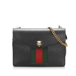 Gucci Animalier Web Leather Crossbody Bag