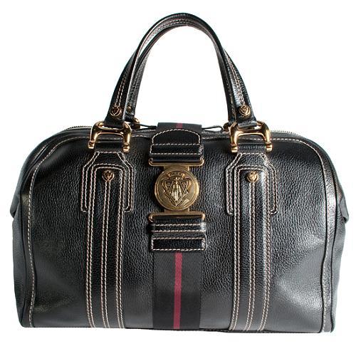 Gucci Aviatrix Large Boston Satchel Handbag