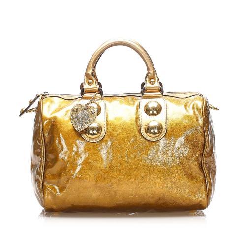 Gucci Babouska Leather Boston Bag