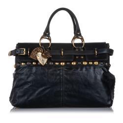 Gucci Leather Babouska Satchel