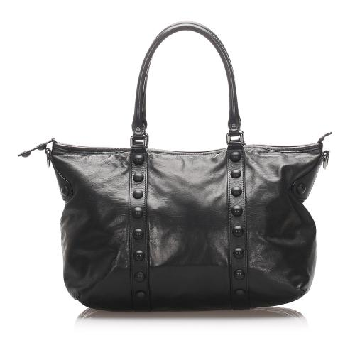Gucci Studded Leather Babouska Tote