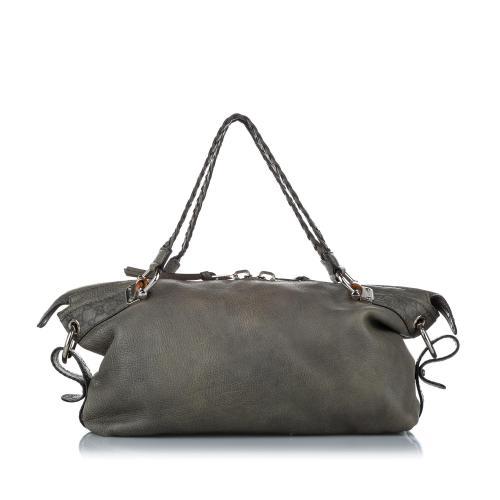 Gucci Bamboo Bar Leather Shoulder Bag