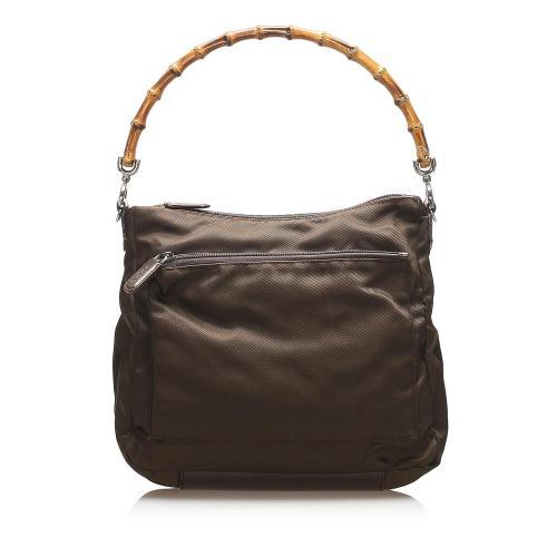 Gucci Bamboo Canvas Handbag