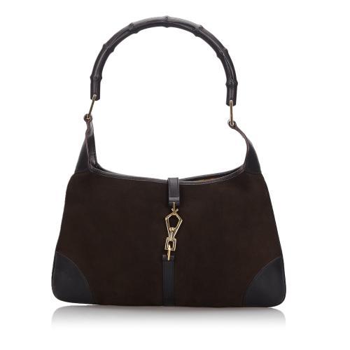 Gucci Bamboo Canvas Jackie Shoulder Bag