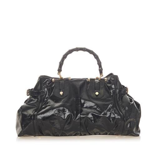 Gucci Bamboo Dialux Pop Handbag