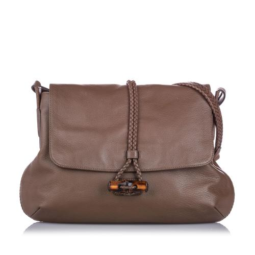 Gucci Bamboo Leather Hip Crossbody Bag