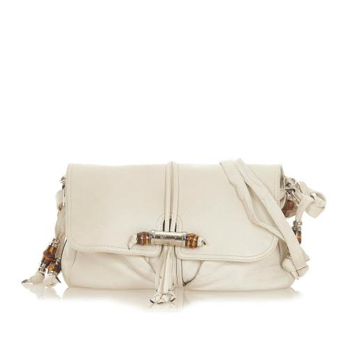 Gucci Bamboo Hip Leather Crossbody Bag