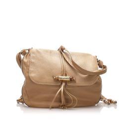 Gucci Leather Bamboo Jungle Crossbody Bag