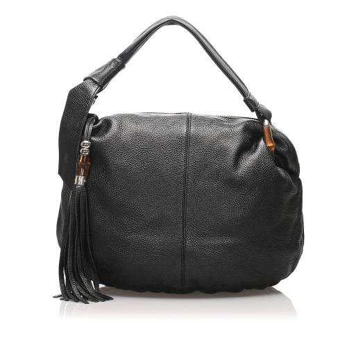 Gucci Bamboo Jungle Leather Hobo Bag
