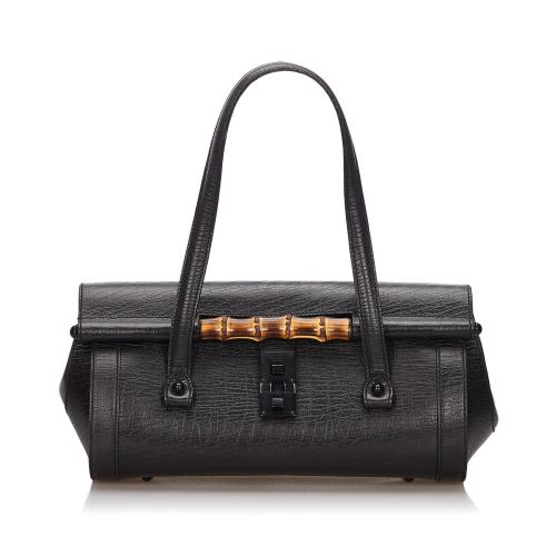 Gucci Bamboo Leather Bullet Satchel