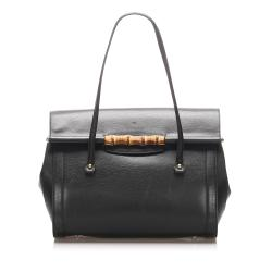 Gucci Bamboo Leather Bullet Tote