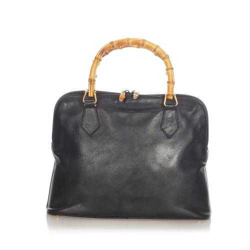 Gucci Bamboo Leather Satchel
