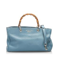 Gucci Leather Bamboo Shopper Satchel
