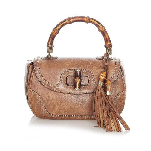 Gucci Bamboo Night Leather Satchel