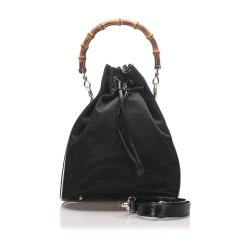 Gucci Nylon Bamboo Bucket Bag