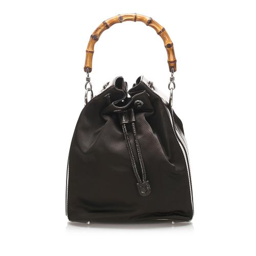 Gucci Bamboo Nylon Bucket Bag
